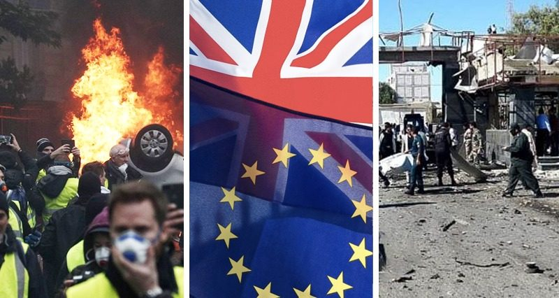 Yellow vest protests, Brexit, Chabahar – weekly outcomes