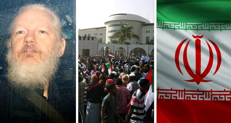 Assange's arrest, Sudan coup, USA VS Iran