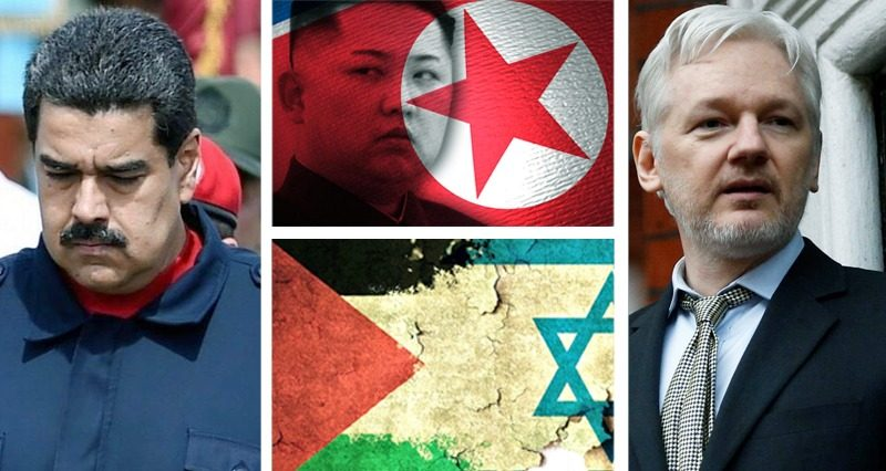 Israeli offensive, North Korean missiles, Venezuela, Assange