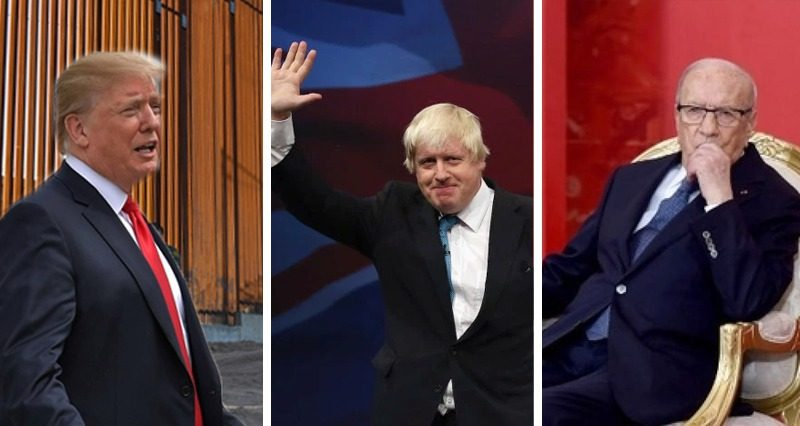 Trump's Wall, Boris Johnson's appointment, death of Beji Caid