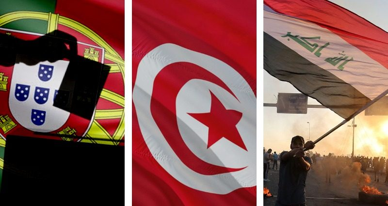 Portugal elections, Tunisia elections, Iraqi protests