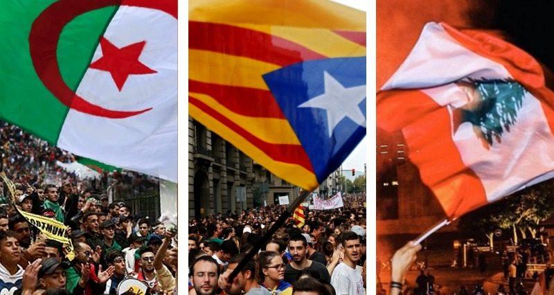 Protests in Lebanon, Catalonia, Ecuador and Algeria