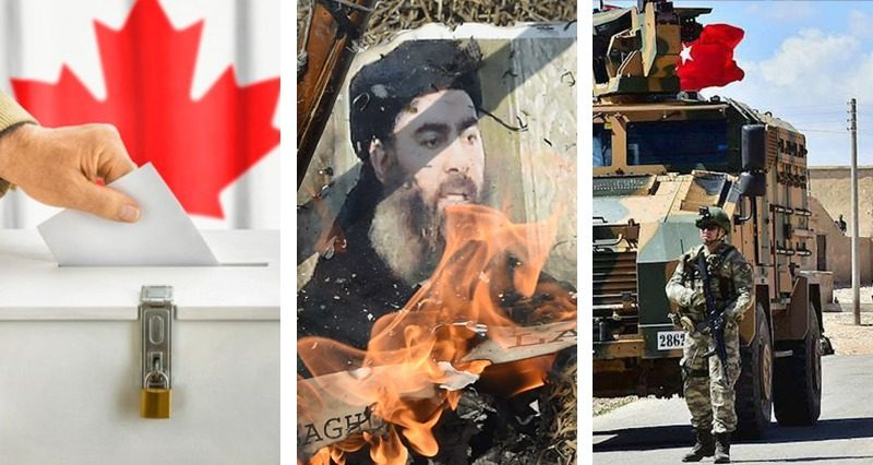 Al Baghdadi's death, Canadian elections, Results in Syria
