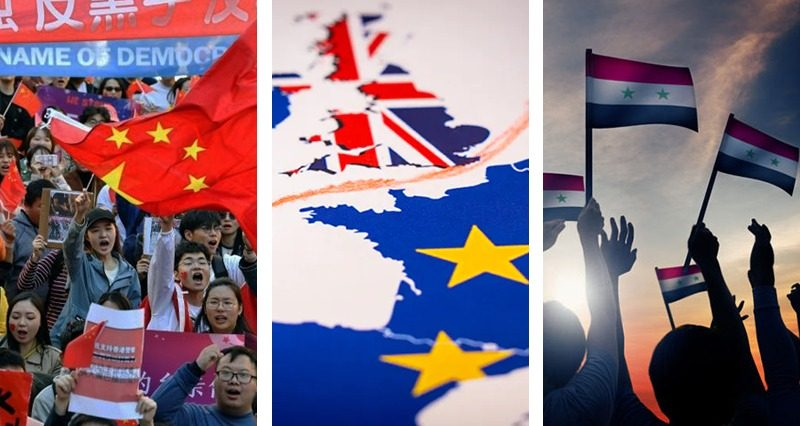 Protests in Hong Kong, Brexit, statement on Syria