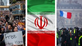 Yellow vests, protests in Iran, riots in Hong Kong