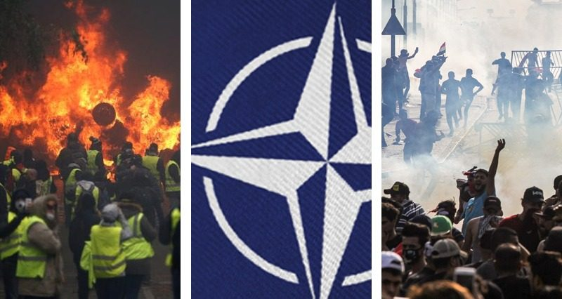 NATO Summit, Iraq, Algeria and France – protests and clashes