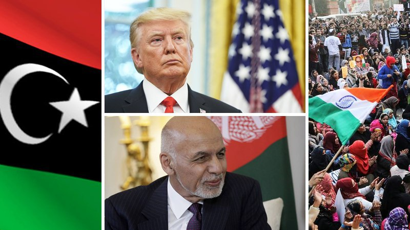 Elections in Afghanistan, protests in India, Trump'impeachment, crisis in Lybia