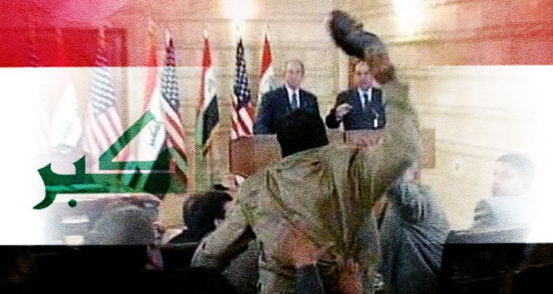 """""""We want a free, independent Iraq"""": journalist who threw shoes at George Bush"""