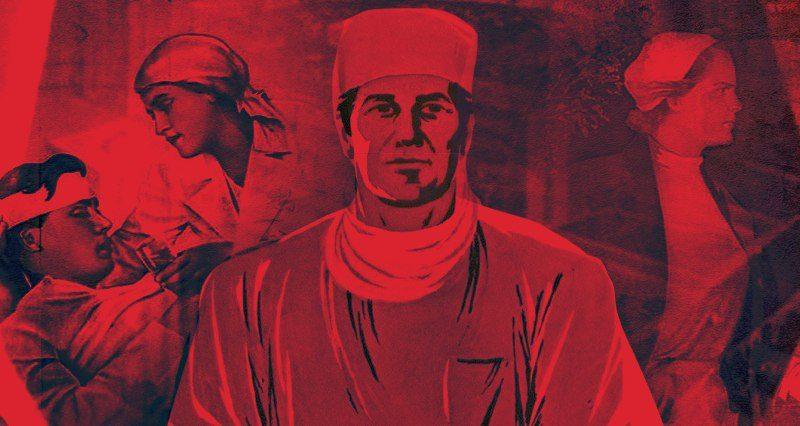 Doktorlar ve salgın hastalıklarla ilgili Sovyet posterleri