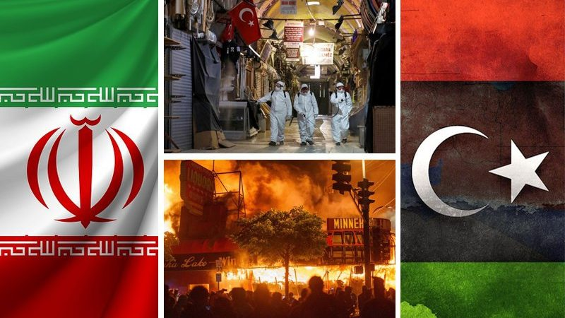 Civil war in the US, Libyan conflict, new Iranian parliament, COVID-19 in Turkey, new sanctions against Syria