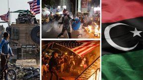 Libyan front, Hong-Kong protests, civil war in US