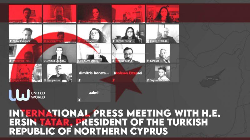 UWI organizes international press meeting with Ersin Tatar, President of the Turkish Republic of Northern Cyprus