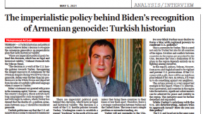 """The imperialistic policy behind Biden's recognition of Armenian genocide: Turkish historian"""
