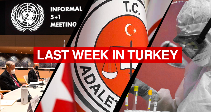 Cyprus Talks in Geneva; Turkish Justice Ministry's infographic regarding the events of 1915; Vaccination efforts and lockdowns against the coronavirus Pandemic