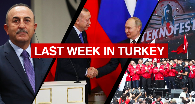 Leaders of Russia and Turkey meet in Sochi; Turkish top diplomat's statements on the Asia Anew Initiative; National technology and innovation festival in Istanbul